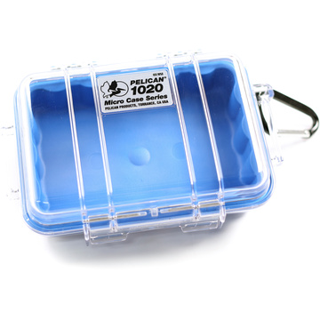 Pelican 1020 Micro Case (Blue/Clear)