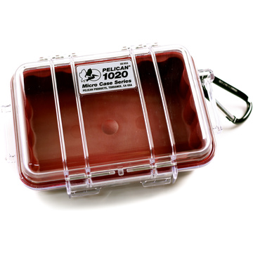 Pelican 1020 Micro Case (Red/Clear)