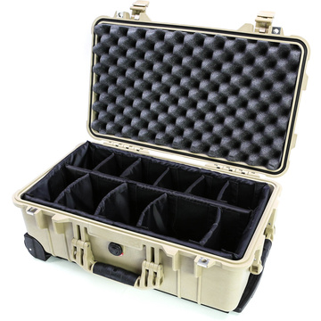 Pelican 1514 Carry On Case with Padded Dividers (Desert Tan)