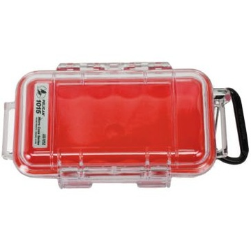 Pelican 1015 Micro Case (Red/Clear)