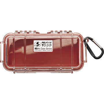 Pelican 1030 Micro Case (Red/Clear)
