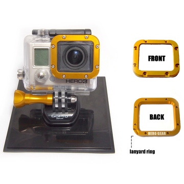 Aluminium CNC lanyard mount for GoPro HERO 3 Yellow