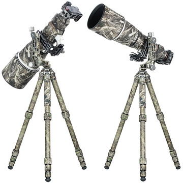 Leofoto LS-365C+PG-1 Compact Carbon Fibre Tripod with Gimbal Head (Full Camouflage)