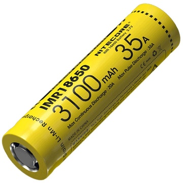 Nitecore IMR18650 3100 Rechargeable 35A Flat Top Battery