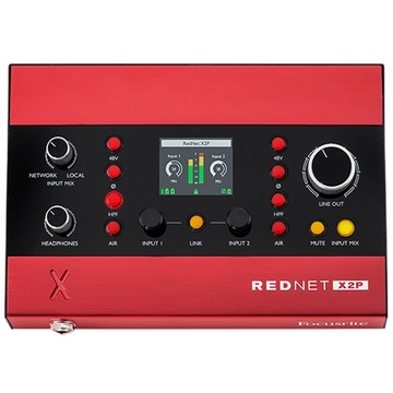 Focusrite Pro RedNet X2P 2x2 Dante Audio Interface with Red Evolution Mic Pres