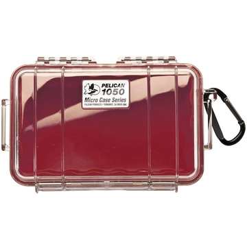 Pelican 1050 Micro Case (Red/Clear)
