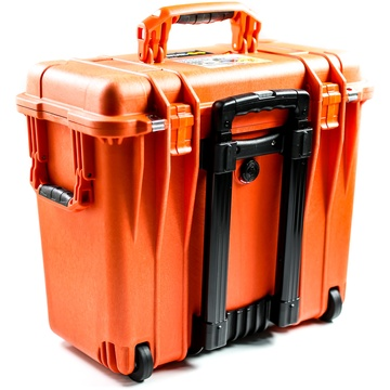 Pelican 1444 Top Loader Case with Photo Dividers (Orange)