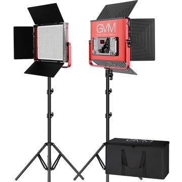 GVM 520LS-R Bi-Color LED 2-Panel Kit (Red)