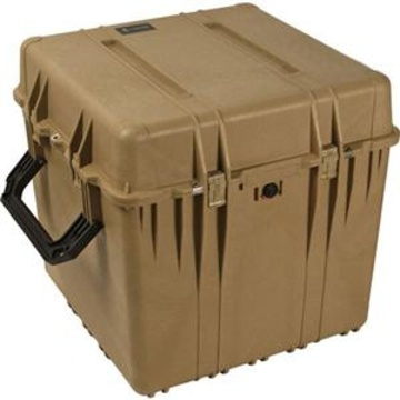 Pelican 0370 Cube Case with Padded Dividers (Desert Tan)