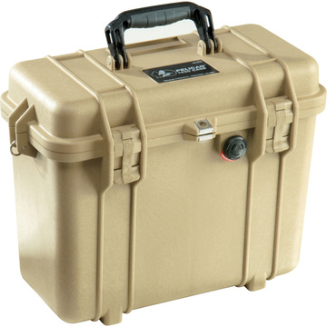 Pelican 1434 Top Loader Case with Photo Dividers (Desert Tan)