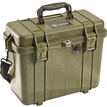 Pelican 1434 Top Loader Case with Photo Dividers (Olive Drab Green)