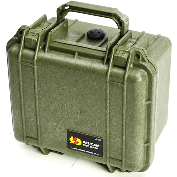 Pelican 1300 Case without Foam (Olive Drab Green)