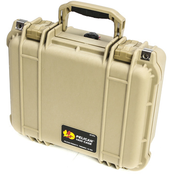 Pelican 1400NF Case without Foam (Desert Tan)