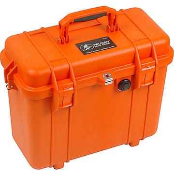 Pelican 1430 Top Loader Case without Foam (Orange)