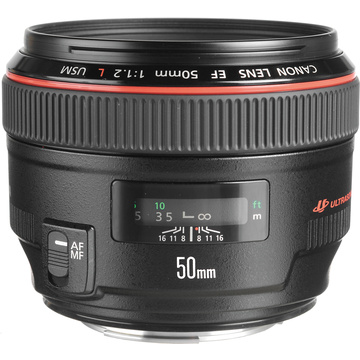 Canon EF 50mm f1.2 L USM Lens with Case and Hood