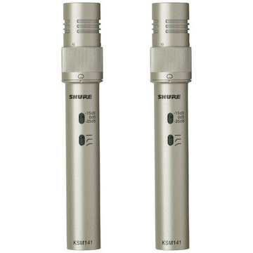 Shure KSM141 Studio Condenser Microphone Pair