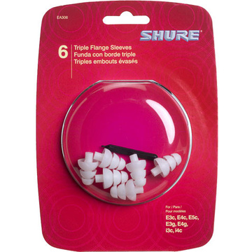 Shure Triple-Flange Sleeves - 3 Pair