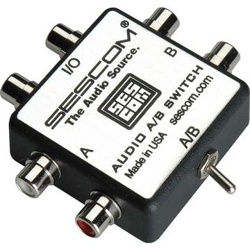 Sescom SES-AUDIO-AB RCA Stereo Audio MP3 iPod FLAC WMA A/B Switch