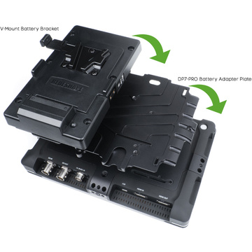 Small HD DP7 Adapter Plate w V-Mount Battery Bracket