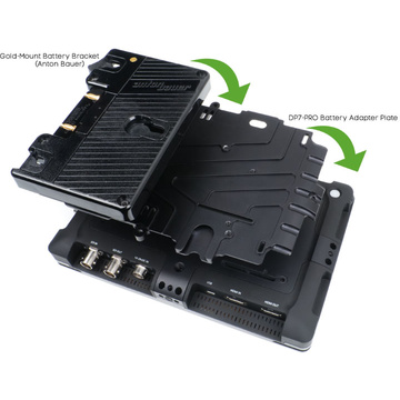 Small HD DP7 Adapter Plate w Anton Bauer Battery Bracket