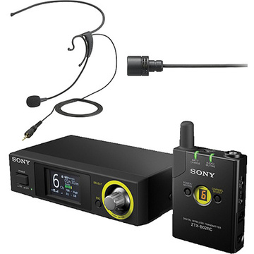 Sony DWZB70HL Digital Wireless Headset & Lavalier Set