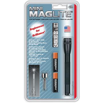 Maglite Mini Maglite 2-Cell AAA Flashlight with Clip (Black)