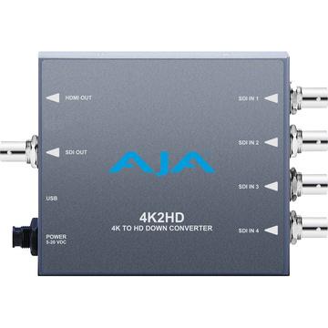 AJA 4K2HD 4K/UHD to 3G/HD/SD-SDI and HDMI Downconverter