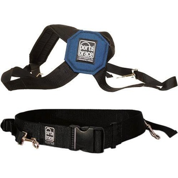 Porta Brace AH-2S Padded Audio Harness with Belt (Small) - for Audio Equipment Cases