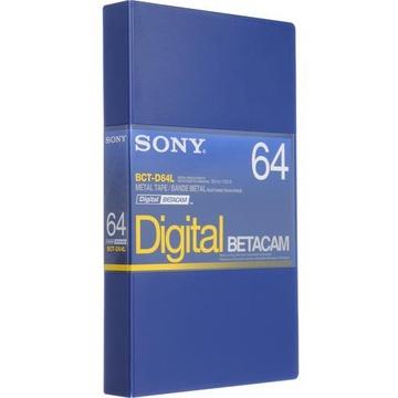 Sony BCT-D64L Digital Betacam Video Cassette (64 Minute)