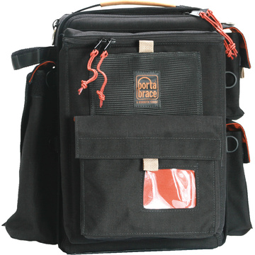 Porta Brace BK-1NRQS-M3 Backpack (Black with Red Trim) with QS-M3 Quick Slick rain cover