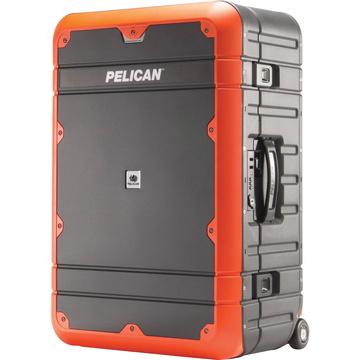 Pelican EL27 Elite Weekender Luggage with Enhanced Travel System (Grey and Orange)