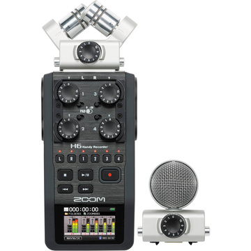 Zoom H6 Handy - Handheld Recorder with Interchangeable Microphone System
