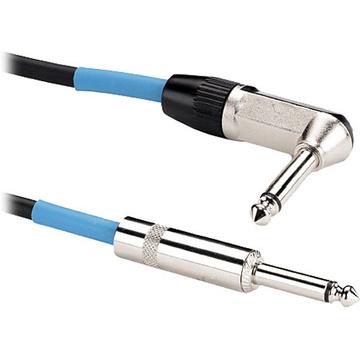 "Samson Tourtek Series 1/4"" Mono Male to 1/4"" Mono Right-Angle Male Instrument Cable - 25'"