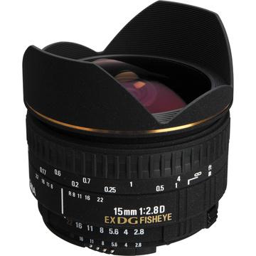 Sigma 15mm f/2.8 EX DG Diagonal Fisheye Lens for Nikon AF