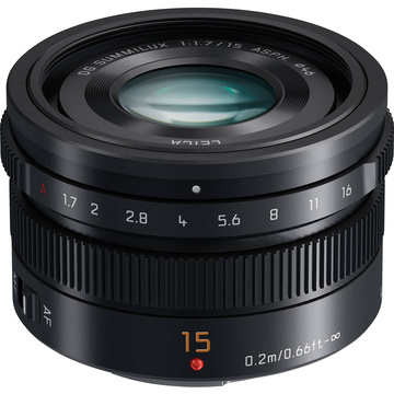 Panasonic LUMIX G Leica DG Summilux 15mm f/1.7 ASPH. Lens (Black)