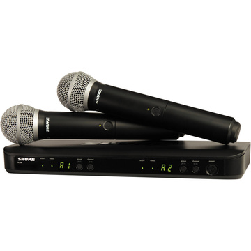 Shure BLX288/PG58 Dual-Transmitter Handheld Wireless System with  PG58 Mics