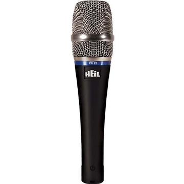 Heil Sound PR 22 SUT Handheld Cardioid Dynamic Microphone wit On/Off Switch (S Steel Grille)