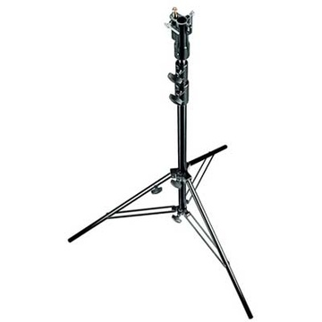 Manfrotto 007BU Aluminium Senior Stand with Levelling Leg (Black, 10.3')