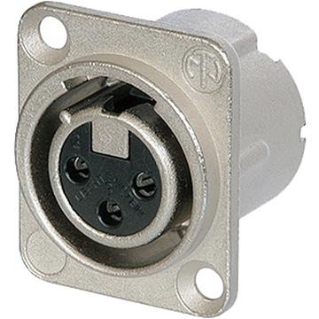 Neutrik NC3FD-LX-0 - Deluxe Series Three-Pin Female XLR Solder Connector