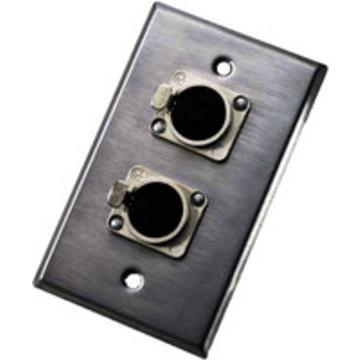 Neutrik 203F Wall plate with Dual Female 3-Pin XLR Connectors