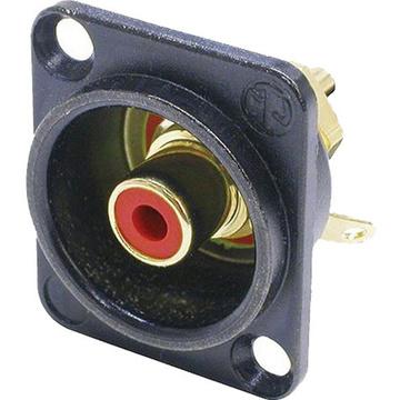 Neutrik NF2D-B-2 Female RCA Socket (Red)