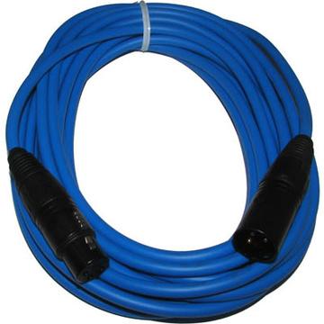 Canare L-4E6S Star Quad XLRM to XLRF Microphone Cable - 15' (Blue)