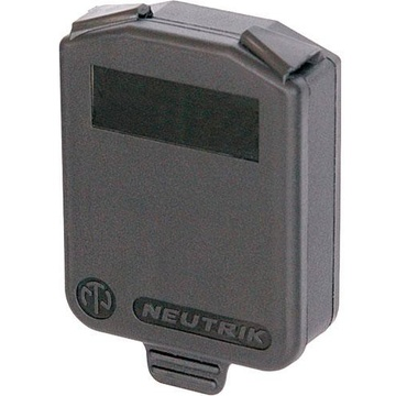 Neutrik Hinged Cover for D-Size Chassis (Black)