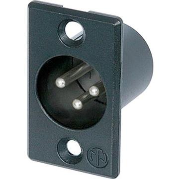 Neutrik 3 Pole Male Receptacle - Silver Solder Contacts