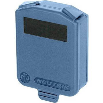 Neutrik Hinged Cover for D-Size Chassis-Blue