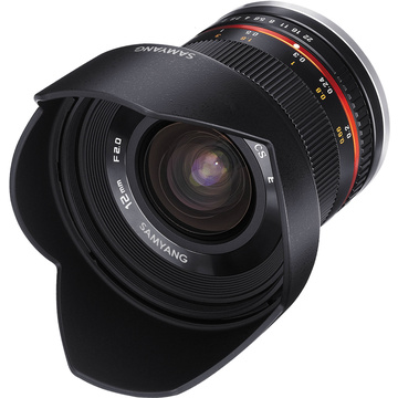 Samyang 12mm f/2.0 NCS CS Lens for Micro Four Thirds Mount (Black)