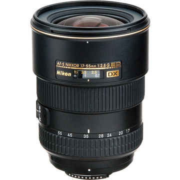 Nikon AF-S DX 17-55mm f2.8G IF-ED Lens with HB-31 Case