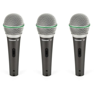 Samson Q6 Dynamic Mic - 3 Pack