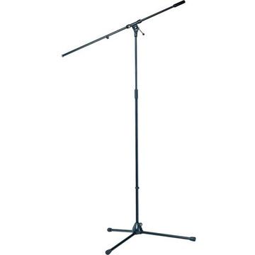 K&M 21021 Tripod Microphone Stand with Boom  (110 - 200cm) Black