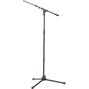 K&M 210/9 Tripod Microphone Stand with Telescoping Boom (Black)
